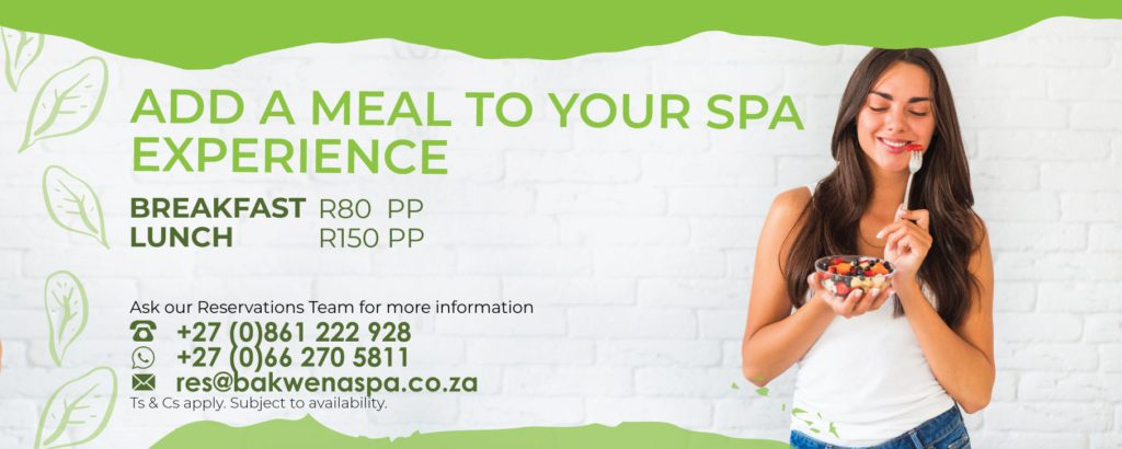 Add meals to your spa experience