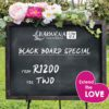 Extend the LOVE Black Board Spa Special February 2020